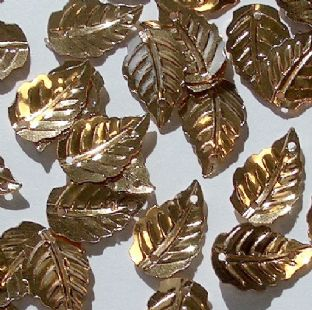 Small Metallic Effect Gold Leaf Sequins x 150